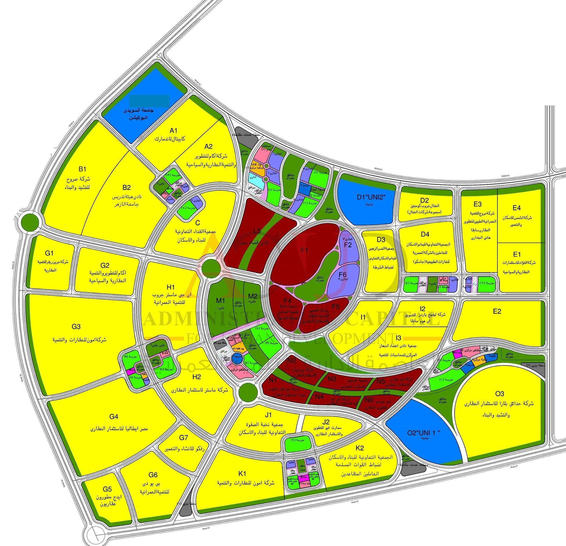 خريطة العاصمة الإدارية