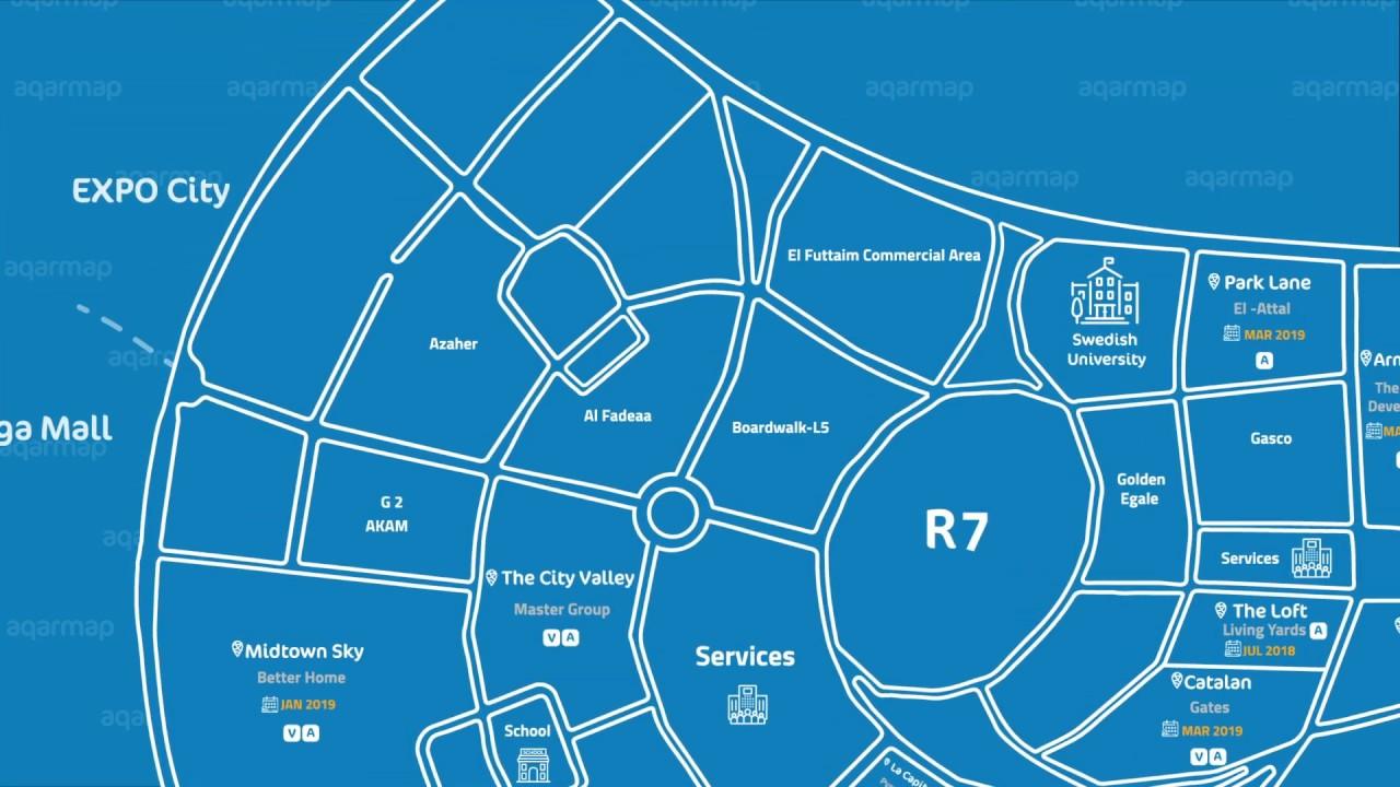 خريطة العاصمة الادارية الجديدة r7