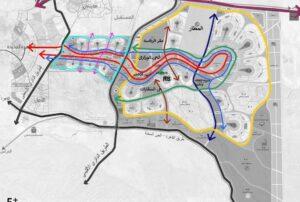 موقع مشروع لافيردي على الخريطة