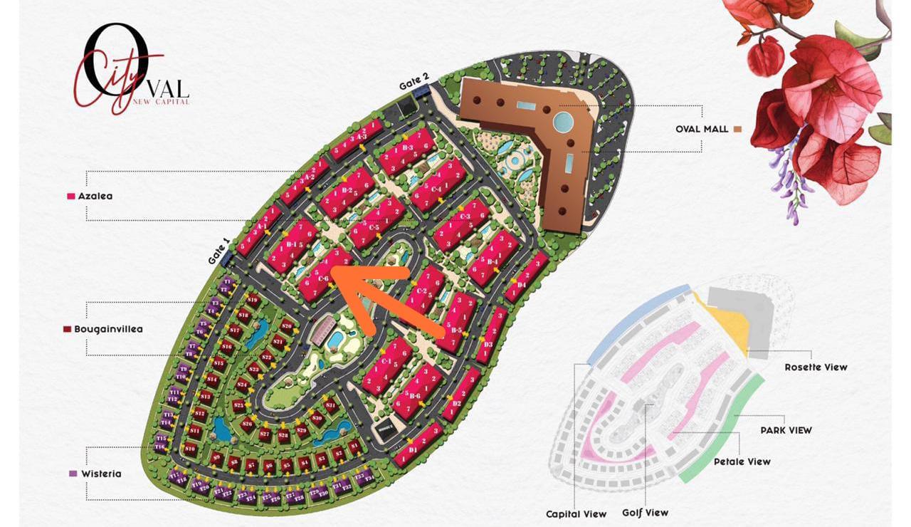 دقة و جمال تصميم ذا سيتي اوفال العاصمة الادارية الجديدة