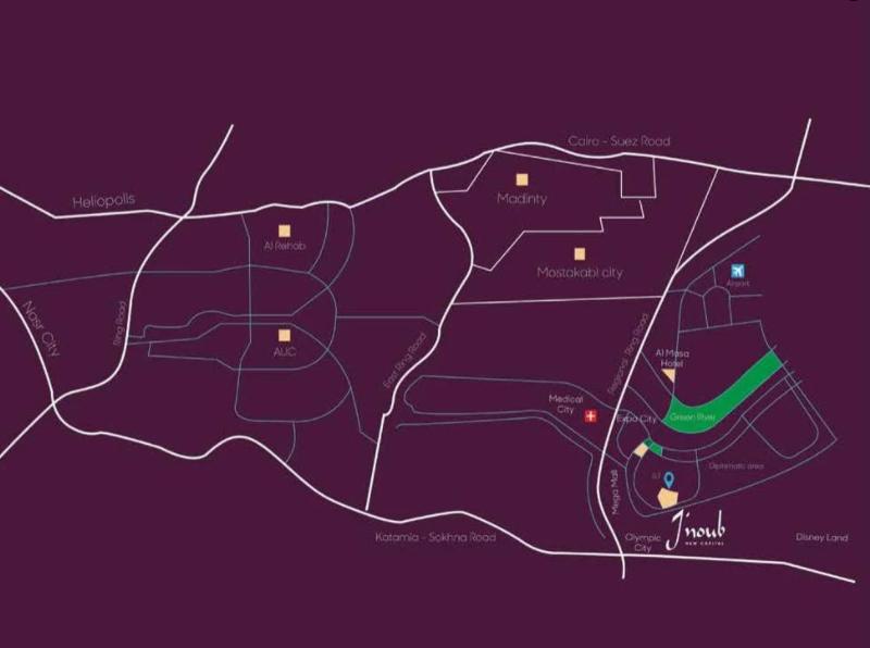 موقع كمبوند جنوب العاصمة الادارية